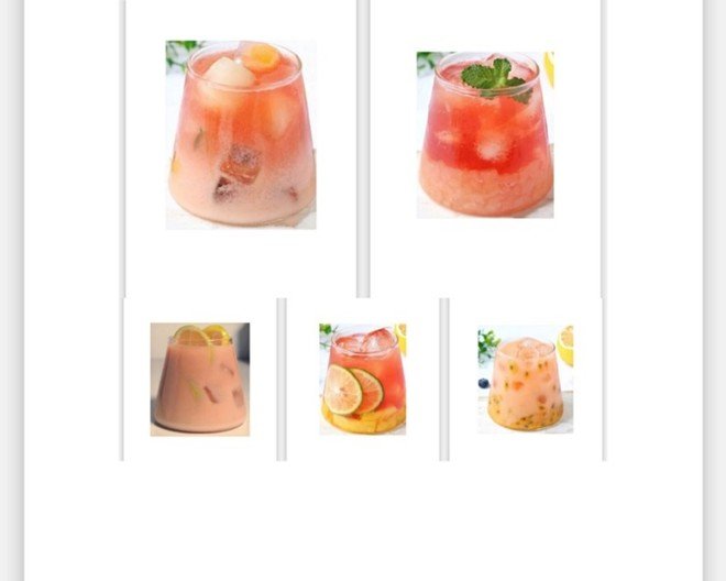 多种清凉水果茶